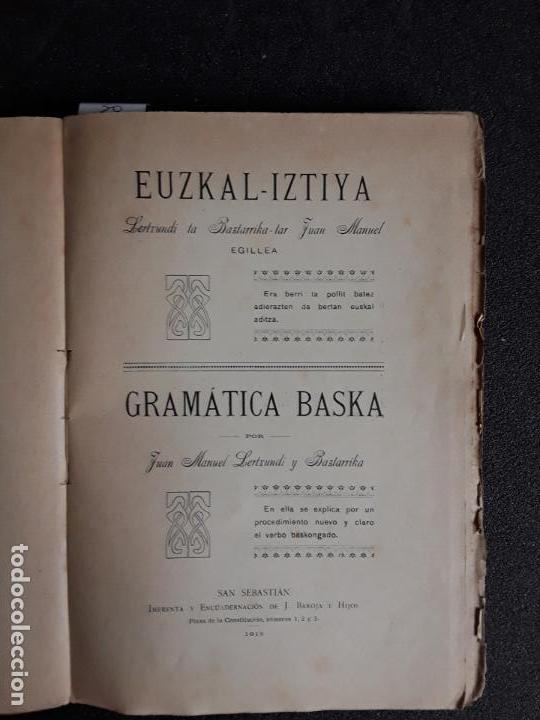 LERTXUNDI Y BAZTARRIKA. EUZKAL-IZTIYA. BUENA GRAMÁTICA DEL EUSKERA. (Libros Nuevos - Otras lenguas locales - Euskera)