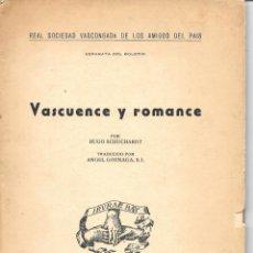 Libros: ESTUDIO DE HUGO SCHUCHARDT SOBRE EL EUSKERA. Lote 176514590