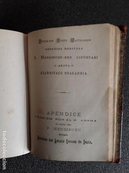 Libros: Mendiburu. Clásico euskaldun. Euskera. Devocionario. Dialecto alto-navarro septentrional. - Foto 2 - 185779525