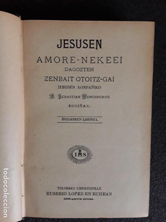 Libros: Mendiburu. Euskera. Su obra principal. Dialecto alto-navarro septentrional. - Foto 2 - 185781213