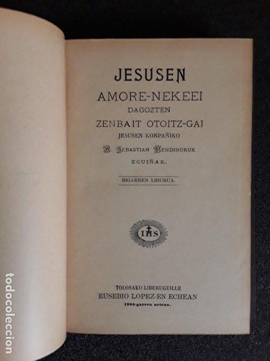Libros: Mendiburu. Euskera. Su obra principal. Dialecto alto-navarro septentrional. - Foto 3 - 185781213