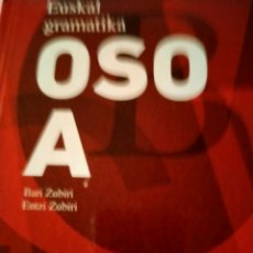 Libros: EUSKAL GRAMATIKA OSO A. Lote 258962015