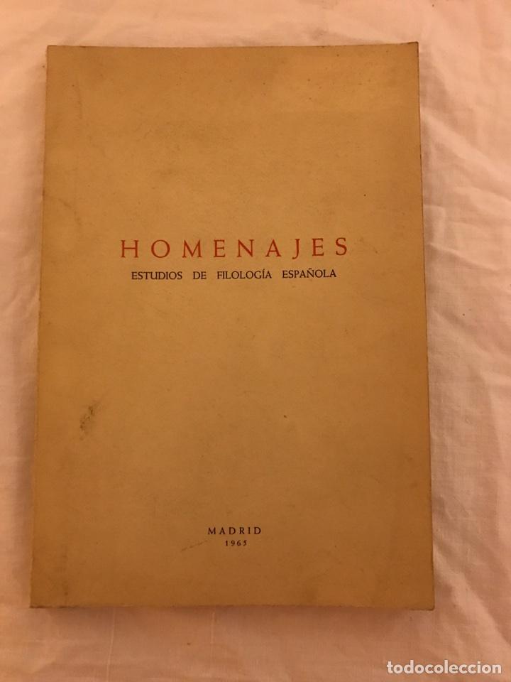 HOMENAJES ESTUDIOS DE FILOLOGÍA ESPAÑOLA MADRID 1965 (Libros Nuevos - Humanidades - Filología)