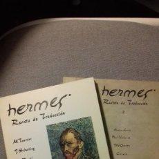 Libros: HERMES REVISTA DE TRADUCCIÓN. NUMEROS 1 Y 2. RARO. Lote 116201295