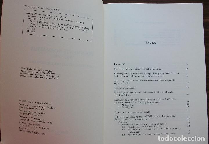 Libros: DOCUMENTS NORMATIUS 1962 - 1996 ( AMB LES NOVETATS DEL DICCIONARI ).1ª EDICIO 1997 - Foto 2 - 131341678