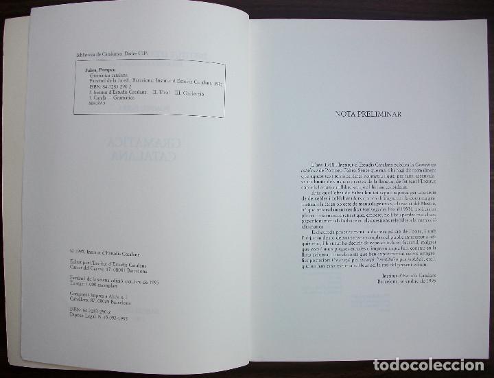 Libros: GRAMATICA CATALANA. POMPEU FABRA. 7ª EDICIO, 1995 - Foto 2 - 131354106