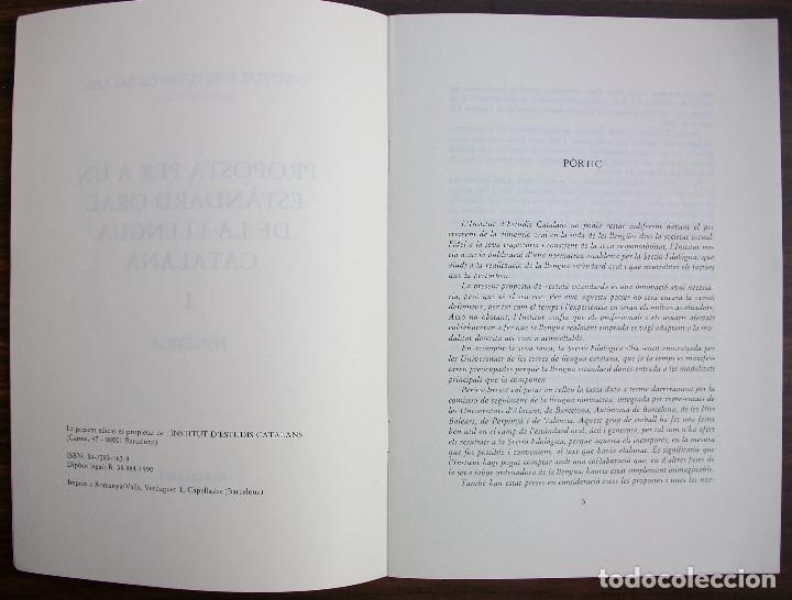 Libros: PROPOSTA PER A UN ESTANDARD ORAL DE LA LLENGUA CATALANA I. FONETICA. 1990 - Foto 2 - 131355130