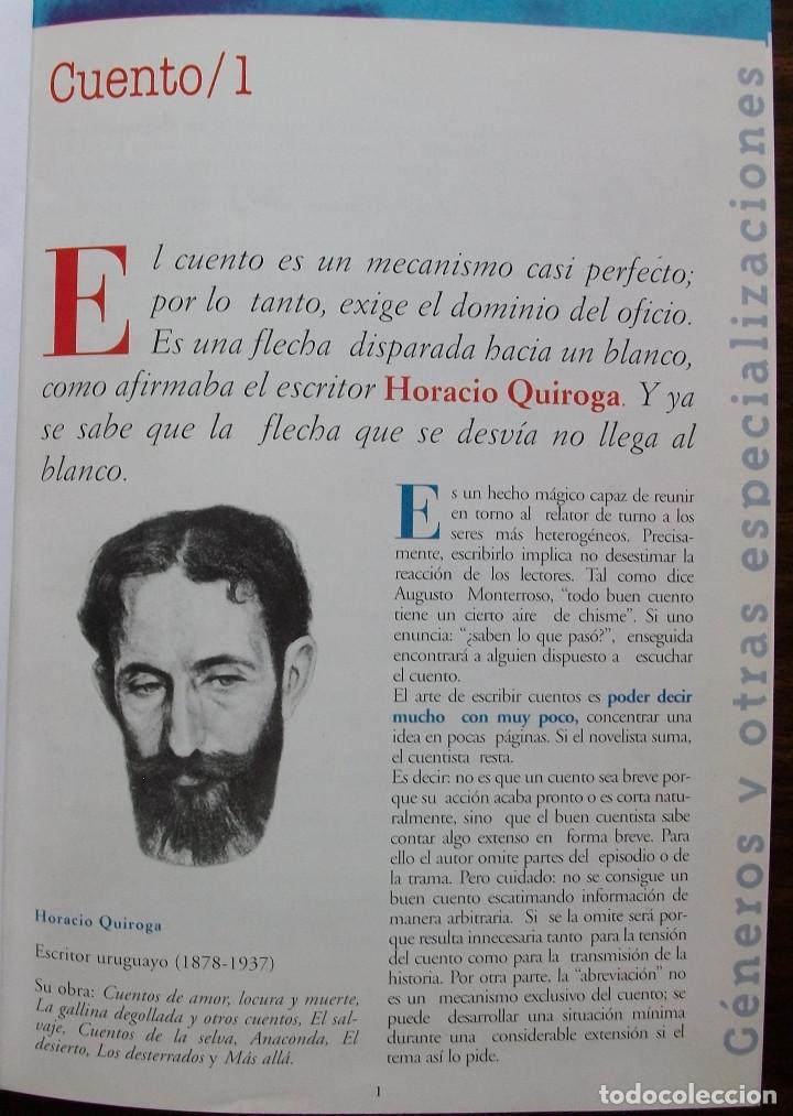 Libros: TALLER DE ESCRITURA SALVAT (GENEROS Y OTRAS ESPECIALIZACIONES.) - Foto 3 - 180960841