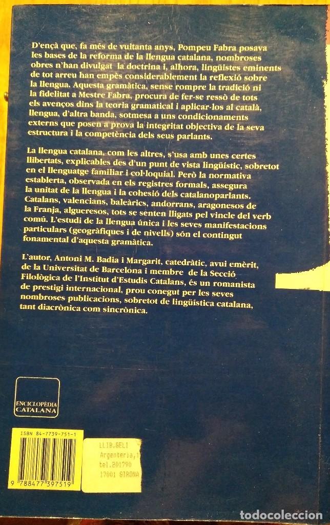 Bücher: Gramàtica de la llengua catalana. Antoni M. Badia i Margarit - Foto 2 - 132038310