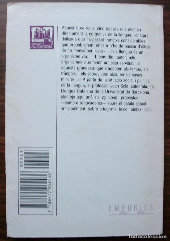 Libros: LINGÜISTICA I NORMATIVA. JOAN SOLA. 1990 - Foto 2 - 138968802