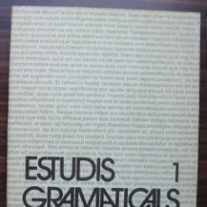 Libros: ESTUDIS GRAMATICALS 1. WORKING PAPERS IN LINGUISTICS/ UNIVERSITAT AUTONOMA DE BARCELONA.. Lote 141128310