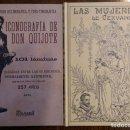 Libros: 2 LIBROS FACSÍMILES RELATIVOS A EL QUIJOTE DE LA MANCHA Y MIGUEL DE CERVANTES. ICONOGRAFÍA MUJERES. Lote 163380021
