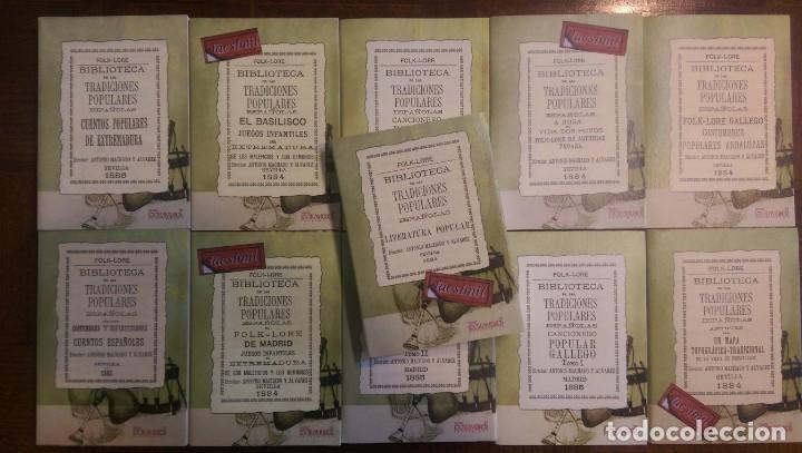 11 LIBROS RELATIVOS AL FOLCLORE ESPAÑOL. TRADICIONES ESPAÑOLAS. ANTONIO MACHADO Y ÁLVAREZ, DEMÓFILO (Libros Nuevos - Humanidades - Filología)