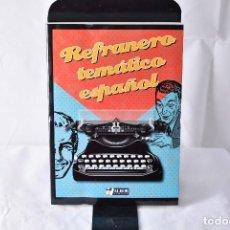 Libros: REFRANERO TEMÁTICO ESPAÑOL. MASIÁ, CONCEPCIÓN. Lote 152014006
