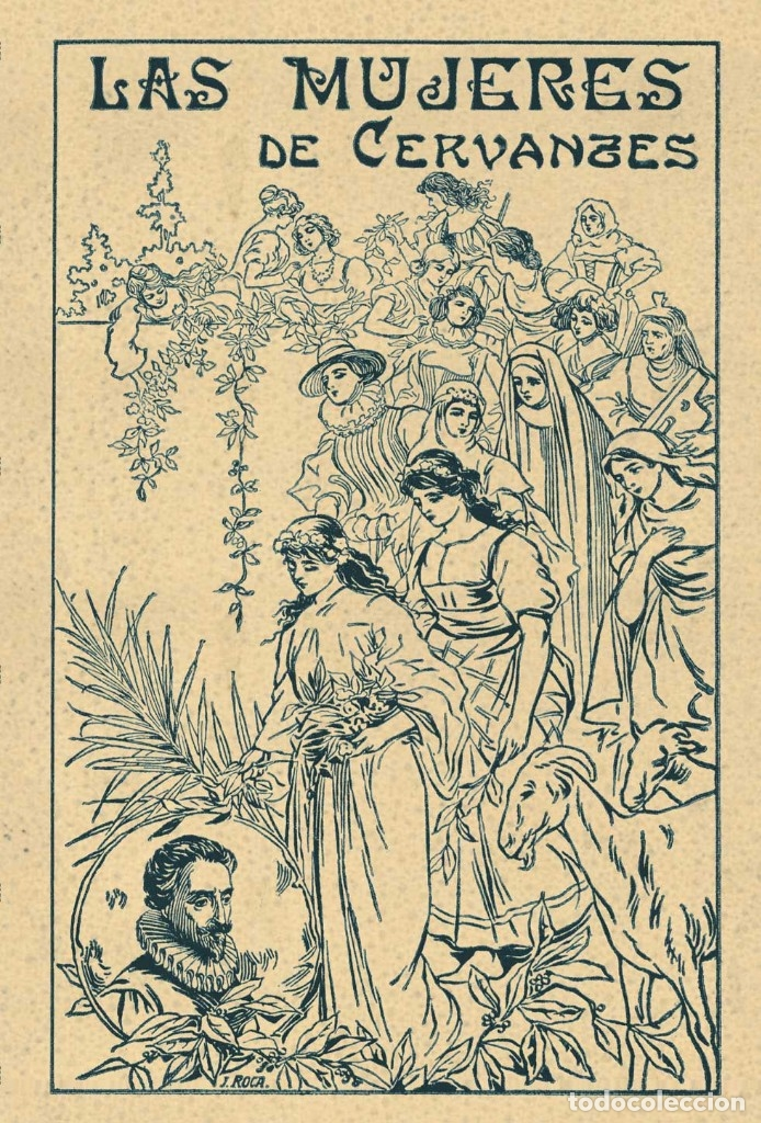 Bücher: 2 libros facsímiles relativos a EL QUIJOTE DE LA MANCHA y Miguel de Cervantes. Iconografía Mujeres - Foto 3 - 152220278