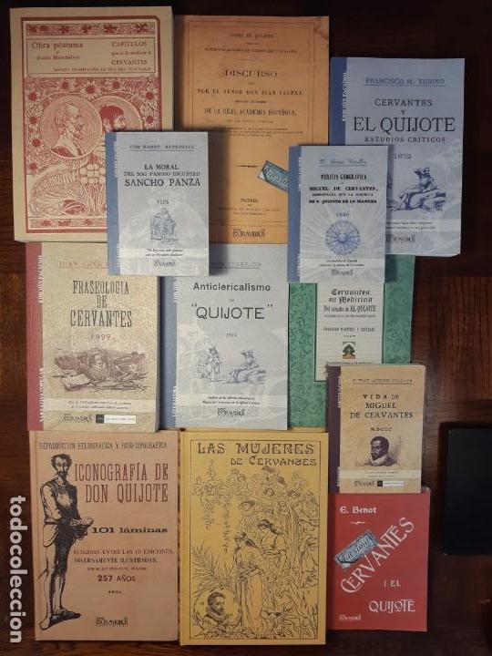12 LIBROS FACSÍMILES RELATIVOS A EL QUIJOTE DE LA MANCHA Y MIGUEL DE CERVANTES. SANCHO PANZA (Libros Nuevos - Humanidades - Filología)
