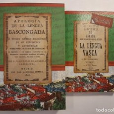Libros: HISTORIA DE LA LENGUA VASCA. EUSKERA VASCO VASCUENCE EUSKADI EUSKAL HERRÍA ORIGEN DEL IDIOMA. Lote 220889971