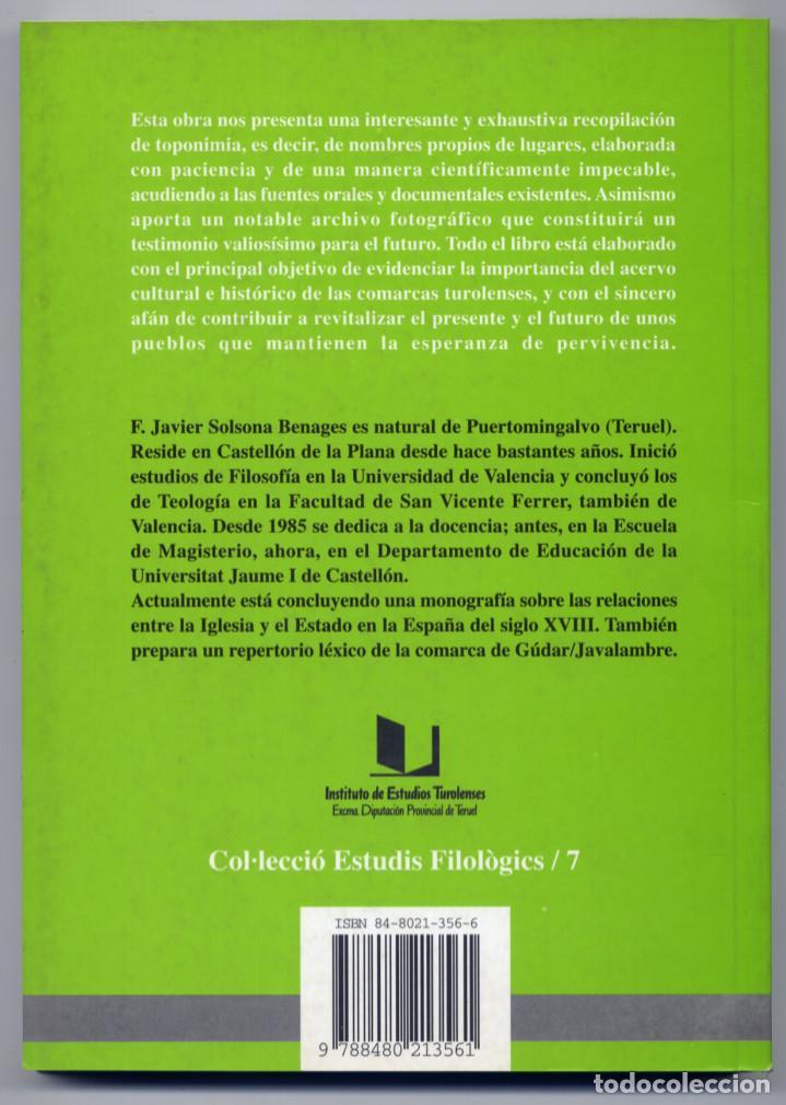 Libros: SOLSONA BENAGES. Estudio toponímico del término municipal de Puertomingalvo (Teruel). 2001. Fotogr. - Foto 2 - 155758806