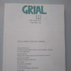Livros: GRIAL 122 LINGUA COMÚN, INVENCIÓN LITERARIA 1994. Lote 167797756