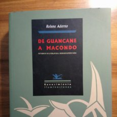 Libros: DE GUANCANE A MACONDO. ESTUDIOS DE LITERATURA HISPANOAMERICANA. Lote 175415190