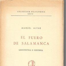 Libros: EL FUERO DE SALAMANCA. Lote 176508747