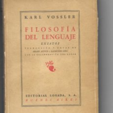 Libros: FILOSOFÌA DEL LENGUAJE. 2ª EDICIÓN EN CASTELLANO. Lote 176516929