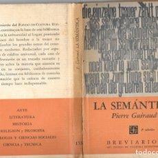 Libros: LA SEMANTICA DE P. GUIRAUD. Lote 176518670