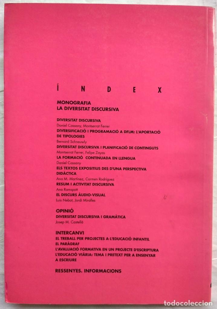 Libros: ARTICLES DE DIDACTICA DE LA LLENGUA I DE LA LITERATURA. LA DIVERSITAT DISCURSIVA. A4 1995 - Foto 2 - 182421613