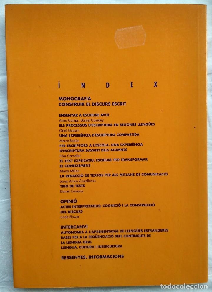 Libros: ARTICLES DE DIDACTICA DE LA LLENGUA I DE LA LITERATURA. CONSTRUIR EL DISCURS ESCRIT. A5 1995 - Foto 2 - 182421693