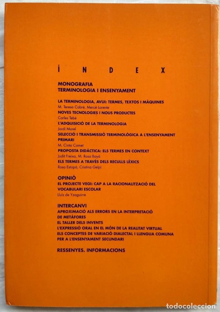 Libros: ARTICLES DE DIDACTICA DE LA LLENGUA I DE LA LITERATURA. TERMINOLOGIA I ENSENYAMENT. A9 1996 - Foto 2 - 182421765