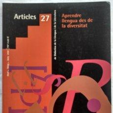 Libros: REVISTA DE DIDACTICA DE LA LLENGUA I DE LA LITERATURA. ARTICLES 27. AÑO 2002. Lote 182424365