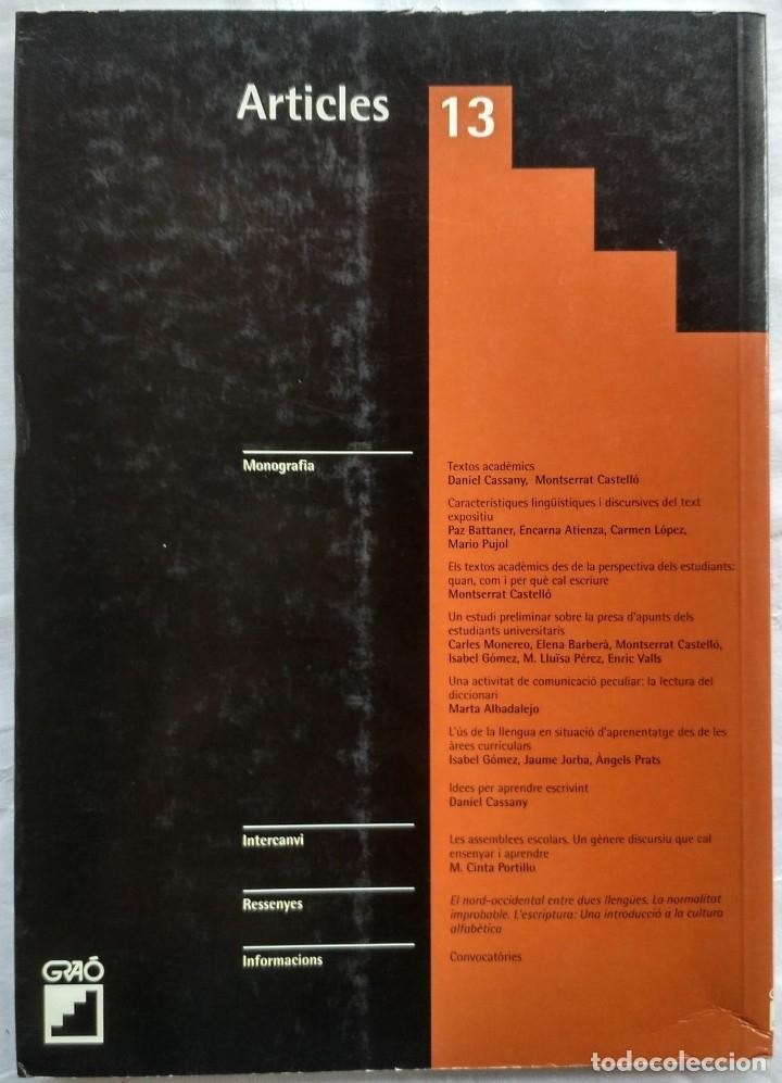 Libros: REVISTA DE DIDACTICA DE LA LLENGUA I DE LA LITERATURA. ARTICLES 13. AÑO 2002 - Foto 2 - 182424480