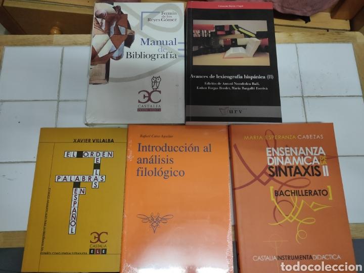 LOTE 5 LIBROS FILOLOGÍA (Libros Nuevos - Humanidades - Filología)