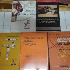 Libros: LOTE 5 LIBROS FILOLOGÍA. Lote 192963765