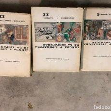 Libros: LENGUA Y LITERATURA DE LA HISPANIDAD. TOMOS 1 A 3, 5 Y SÍNTESIS.ERNESTO GIMENEZ CABALLERO.. Lote 194760621