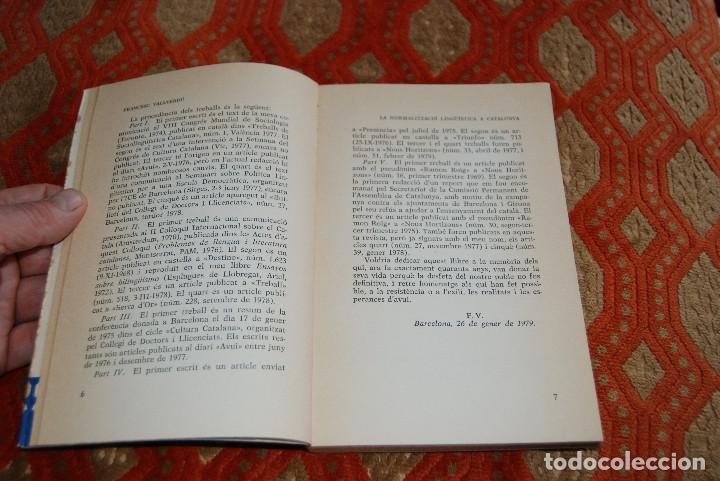 Libros: 3 - LA NORMALITZACIÓ LINGÜÍSTICA A CATALUNYA. FRANCESC VALLVERDÚ. ED. LAIA, 1979 - Foto 2 - 194893366