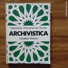 Libri: ARCHIVÍSTICA. ESTUDIOS BÁSICOS - VV. AA.. Lote 204767800