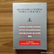 Libros: ARCHIVÍSTICA GENERAL. TEORÍA Y PRÁCTICA - HEREDIA HERRERA, ANTONIO. Lote 206945415