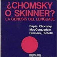 Libros: ¿CHOMSKY O SKINNER? LA GÉNESIS DEL LENGUAJE VV AA. Lote 288865593