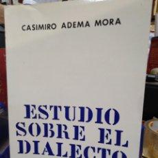 Libros: ESTUDIO SOBRE EL DIALECTO ARANES-CASIMIRO ADEMA MORA-EDITA OCCITANIA,1969. Lote 219089290