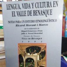 Libros: LENGUA,VIDA Y CULTURA EN EL VALLE DE BENASQUE-RICARD MORANT I MARCO,EDITA LIBERTARIAS,1992. Lote 276466453
