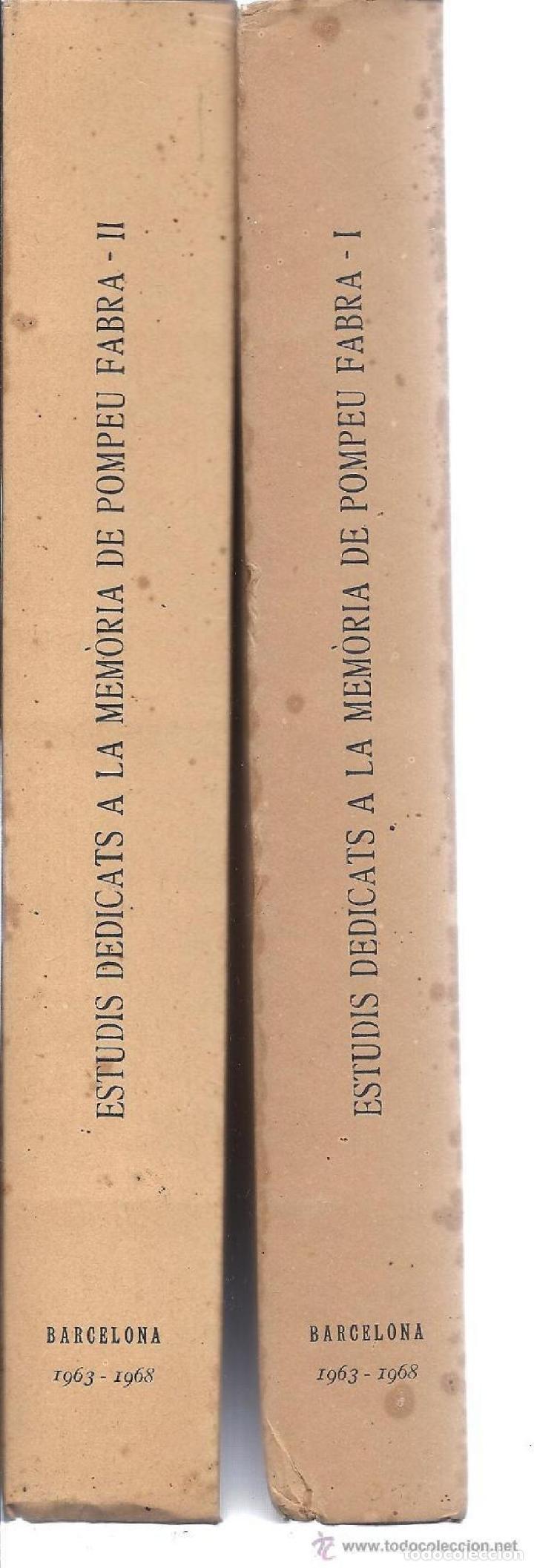 Libros: ESTUDIS DE LINGÜÍSTICA I DE FILOLOGIA CATALANES. R. ARAMON I SERRA. 2 T. 1968. - Foto 2 - 231311885