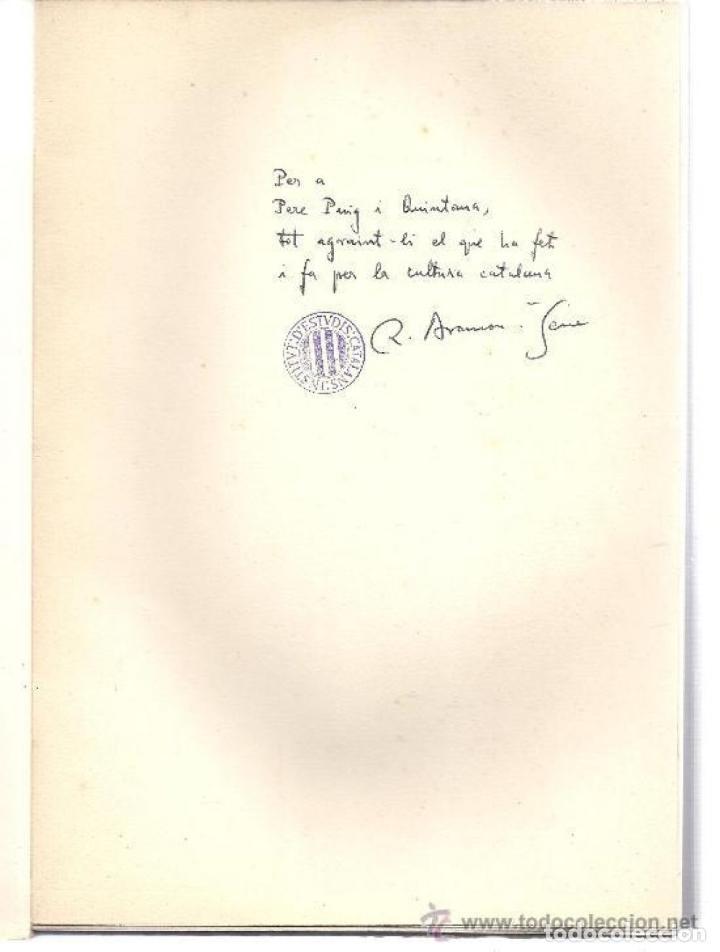 Libros: ESTUDIS DE LINGÜÍSTICA I DE FILOLOGIA CATALANES. R. ARAMON I SERRA. 2 T. 1968. - Foto 3 - 231311885