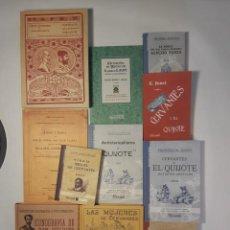 Libros: 12 LIBROS FACSÍMILES RELATIVOS A EL QUIJOTE DE LA MANCHA Y MIGUEL DE CERVANTES. SANCHO PANZA. Lote 235557115