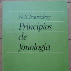 Libros: N. S. TRUBETZKOY. PRINCIPIOS DE FONOLOGÍA. TRAD. DELIA G. GIORDANO Y LUIS J. PRIETO. MADRID 1973.. Lote 236925275