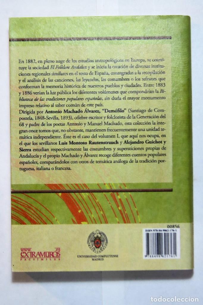Libros: 11 libros relativos al FOLCLORE ESPAÑOL. Tradiciones españolas. Antonio Machado y Álvarez, Demófilo - Foto 4 - 238872510