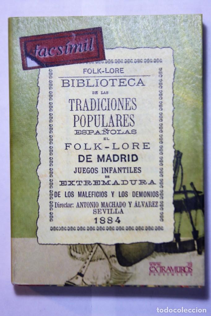 Libros: 11 libros relativos al FOLCLORE ESPAÑOL. Tradiciones españolas. Antonio Machado y Álvarez, Demófilo - Foto 5 - 238872510