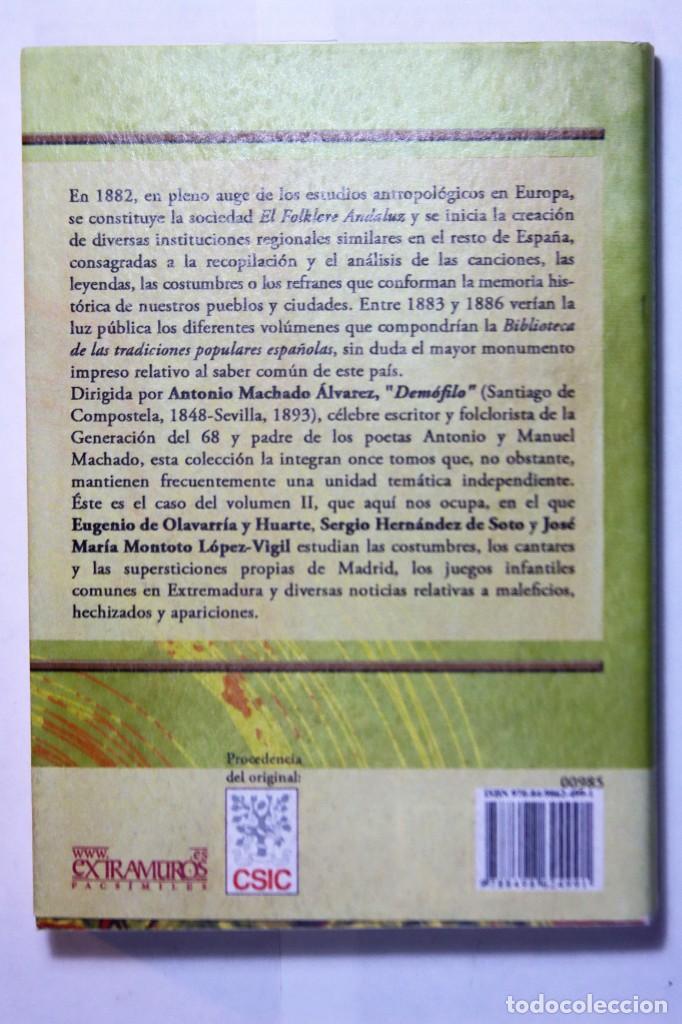 Libros: 11 libros relativos al FOLCLORE ESPAÑOL. Tradiciones españolas. Antonio Machado y Álvarez, Demófilo - Foto 6 - 238872510