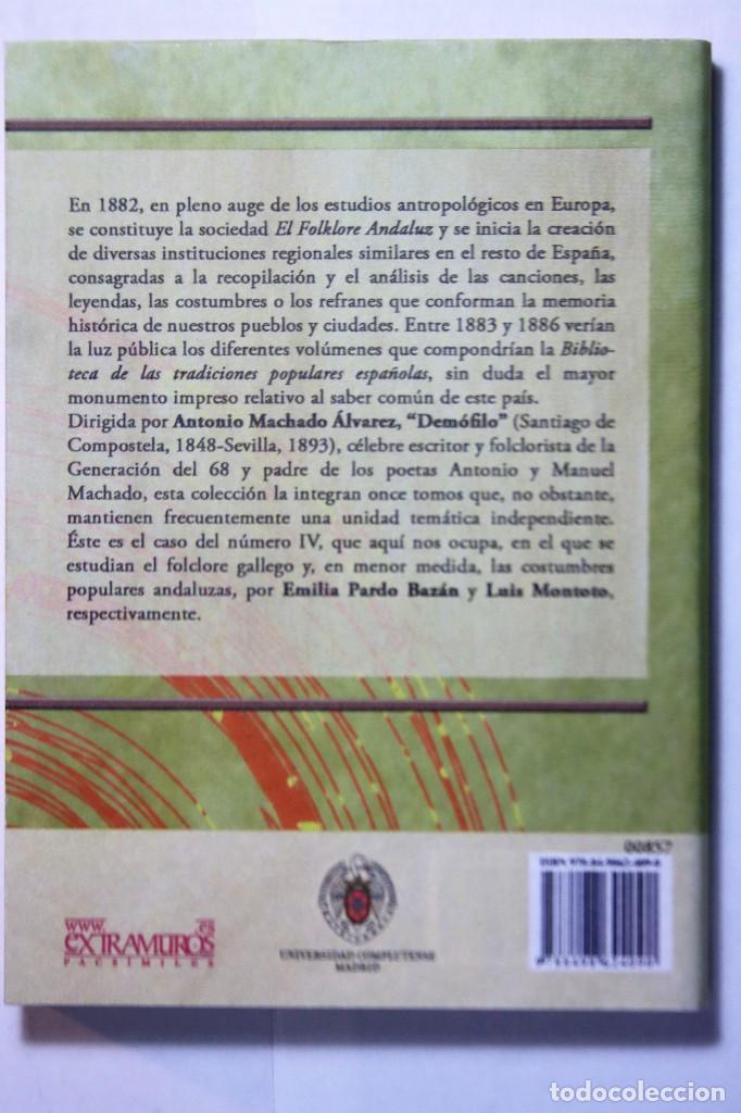 Libros: 11 libros relativos al FOLCLORE ESPAÑOL. Tradiciones españolas. Antonio Machado y Álvarez, Demófilo - Foto 10 - 238872510