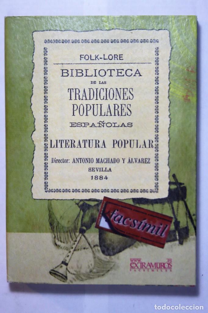 Libros: 11 libros relativos al FOLCLORE ESPAÑOL. Tradiciones españolas. Antonio Machado y Álvarez, Demófilo - Foto 11 - 238872510